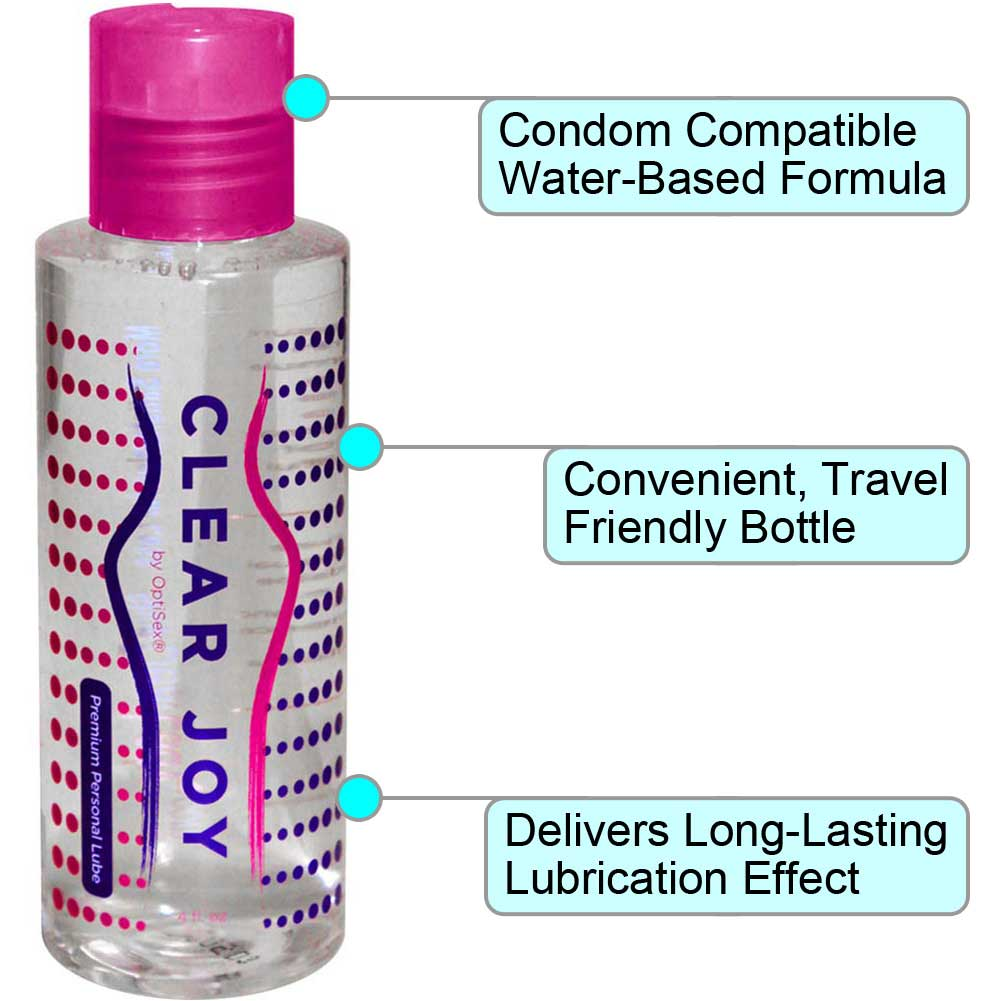 CleanStream Natural Anal Lube 8 Oz and Clear Joy Premium Personal Lube 4 Oz Combo - View #1