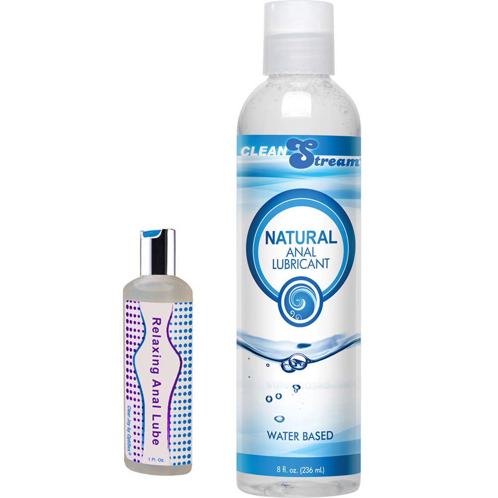 CleanStream Natural Anal Lube 8 Oz. And Clear Joy Relaxing Anal Lube 1 Oz. Combo - View #2