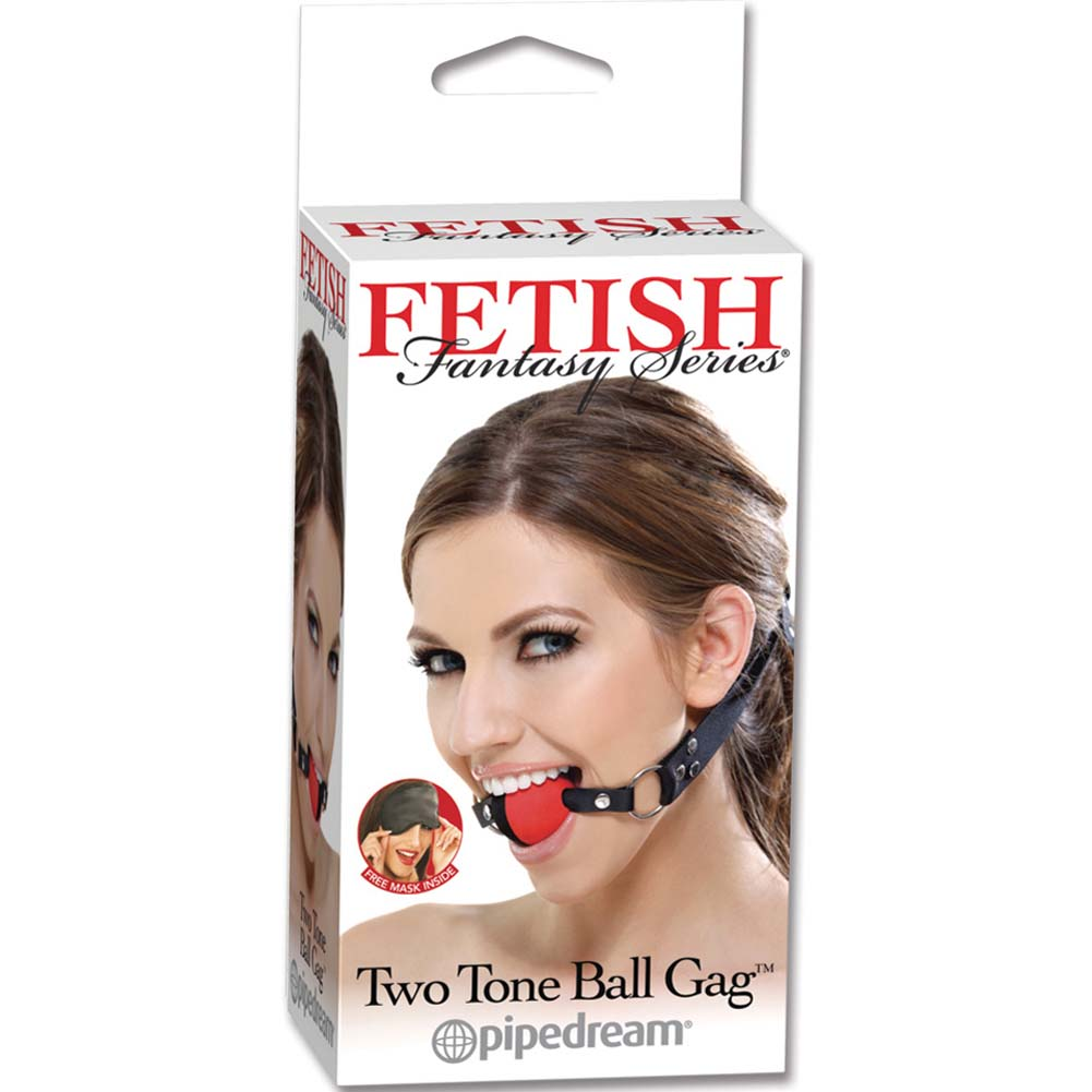 Fetish Fantasy Series Two Tone Ball Gag Red - View #1