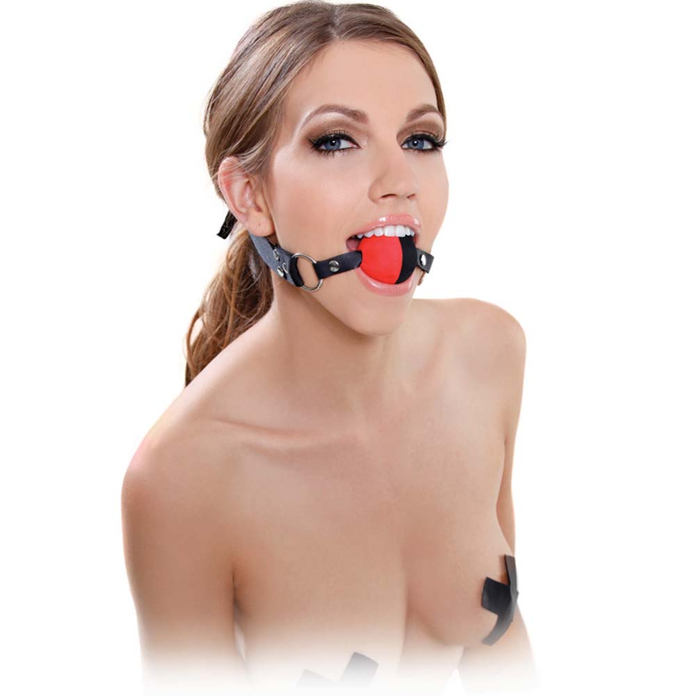 Fetish Fantasy Series Two Tone Ball Gag Red - View #3