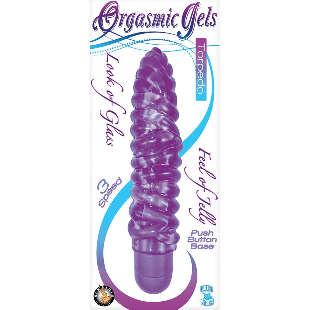 "Orgasmic Gels Torpedo Vibe 7"" Purple - View #1"