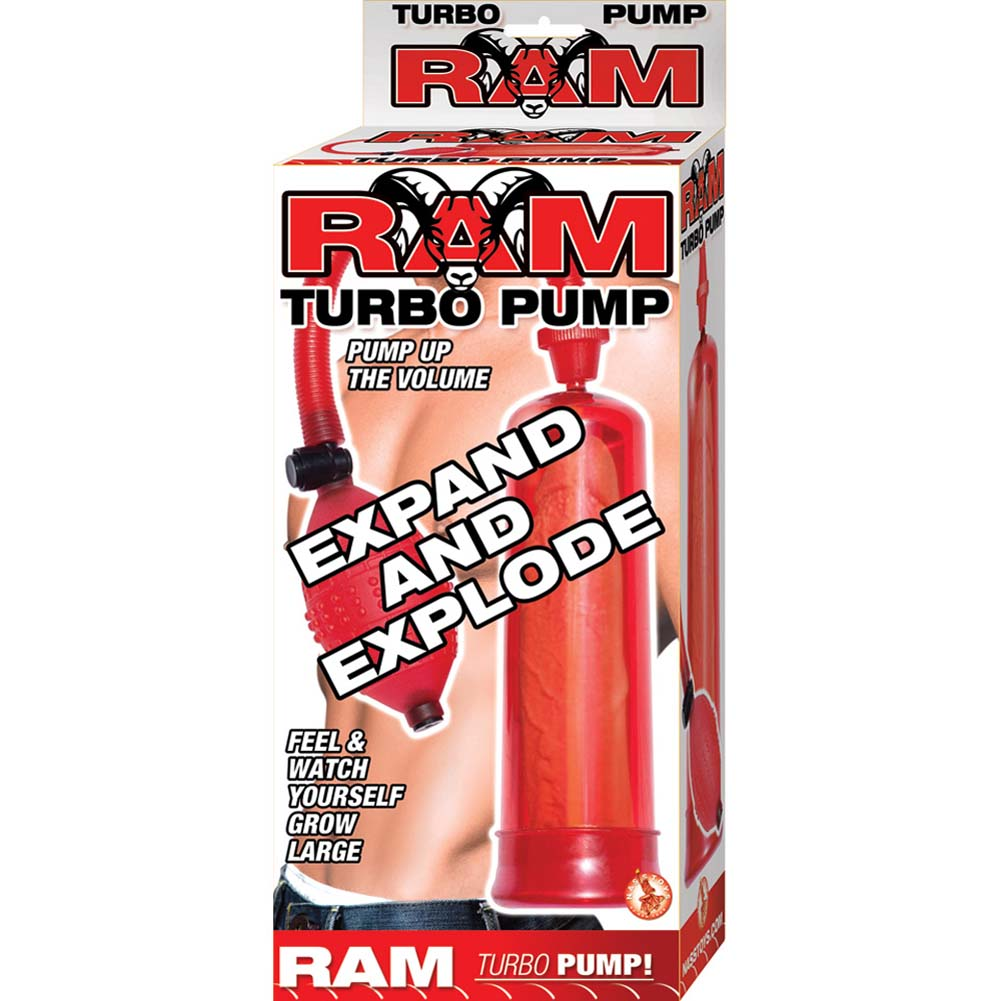 "Ram Turbo Pump Penis Enlarger 7.5"" Red - View #1"