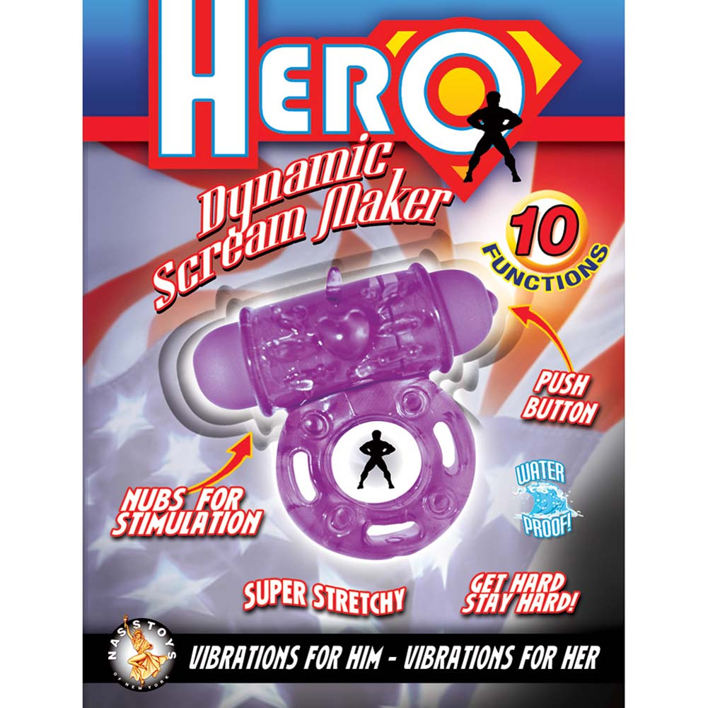 Hero Dynamic Scream Maker Vibrating Ring Purple - View #1
