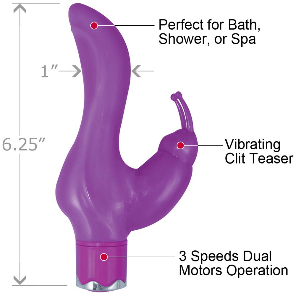 "Party Girl Vibrating Clit Teaser 6.25"" Purple - View #1"
