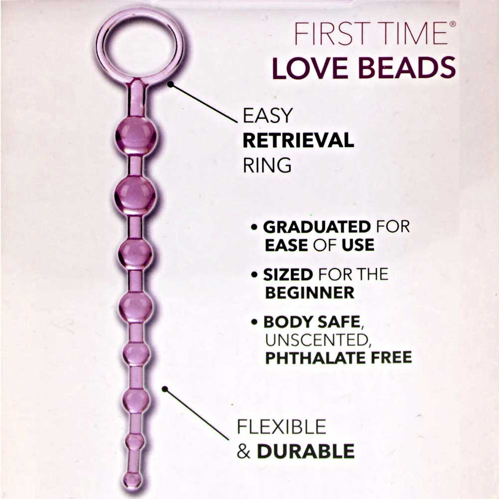 "California Exotics First Time Bendable Love Beads 11"" Romantic Pink - View #1"