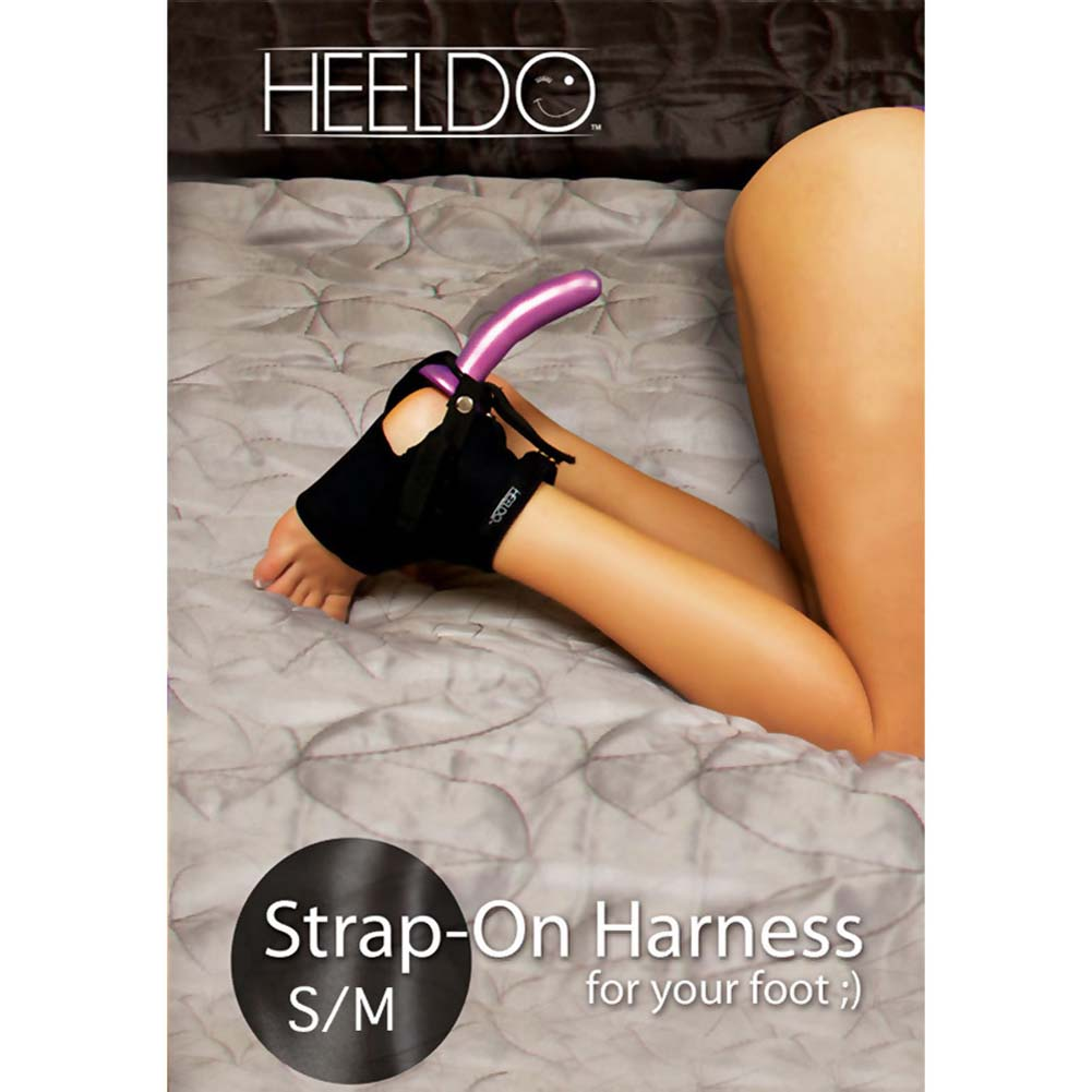Heeldo Strap-On Harness for Your Foot Sm-Md Black - View #1