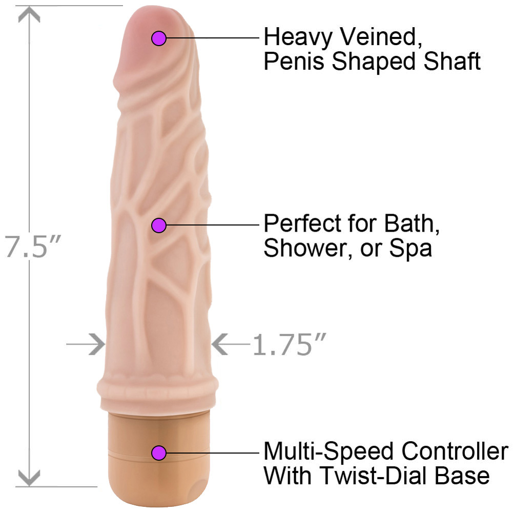 "Blush Novelties Dr. Skin Cock Vibe No. 3 Personal Vibrator 7.5"" Natural - View #1"