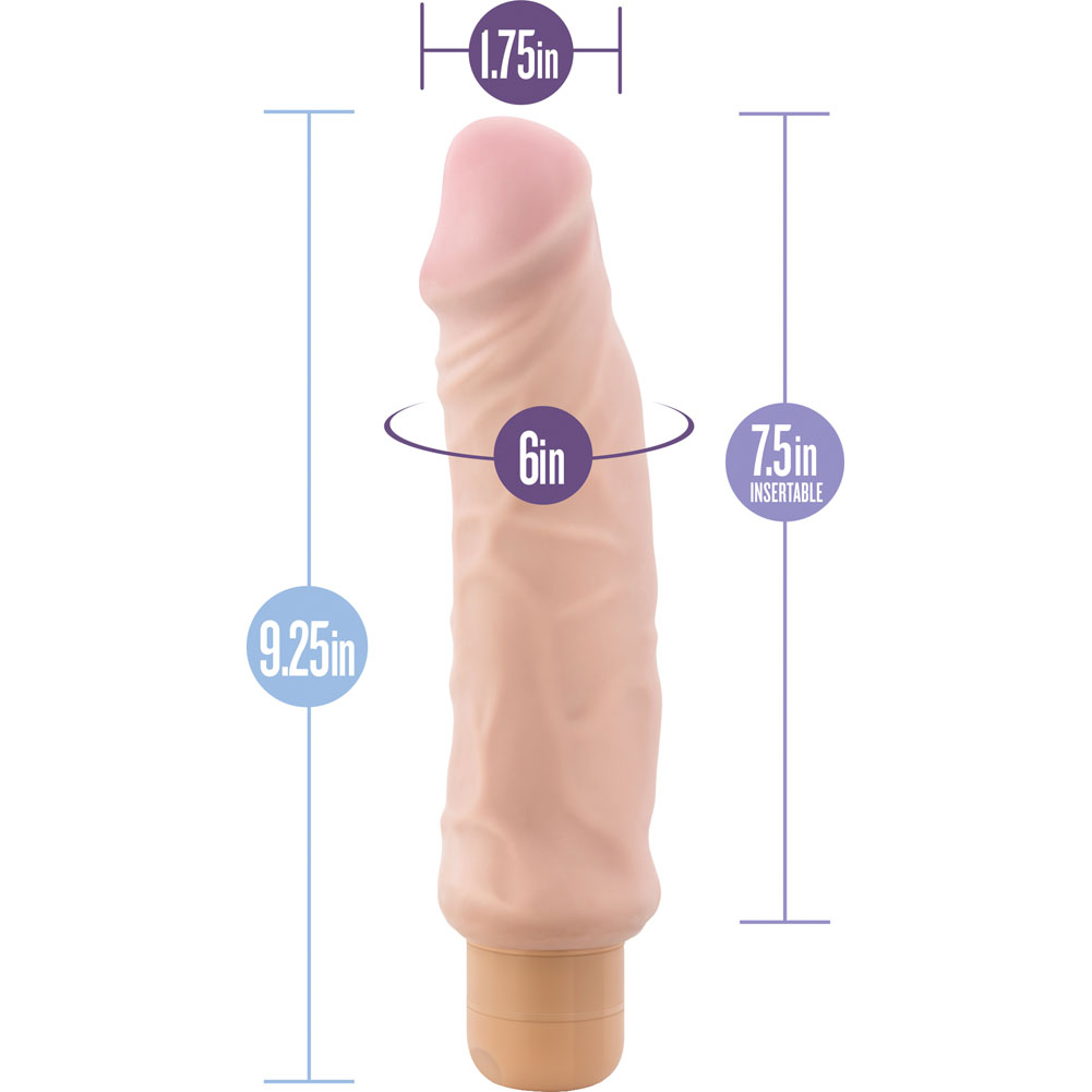 "Blush Au Naturel Home Wrecker Vibrator 9.25"" Natural - View #1"