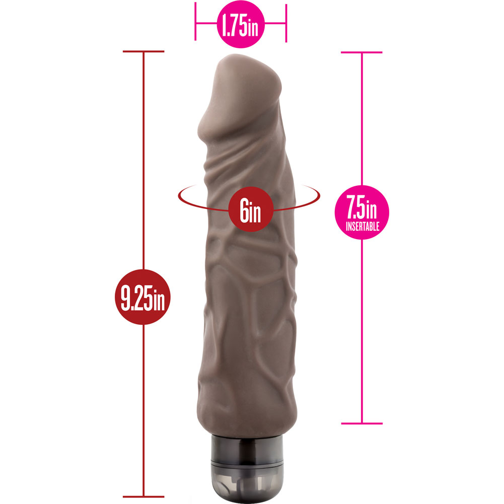 "Blush X5 Plus Hard On Vibrating Dildo 9"" Brown - View #1"