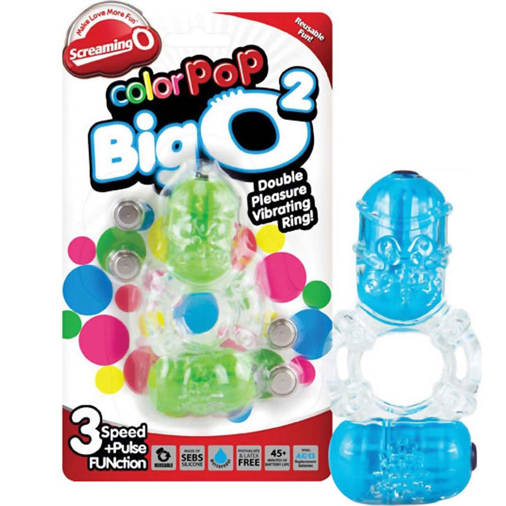 Screaming O ColorPoP Big O2 Vibrating Ring Assorted Colors - View #4