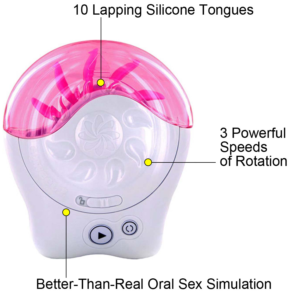 Sqweel 2 Oral Sex Simulator with Silicone Tongues. White - View #1
