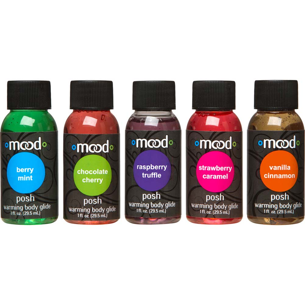 Mood Posh Warming Body Glides 5 Pack Bottles 1 Fl. Oz. Each - View #2