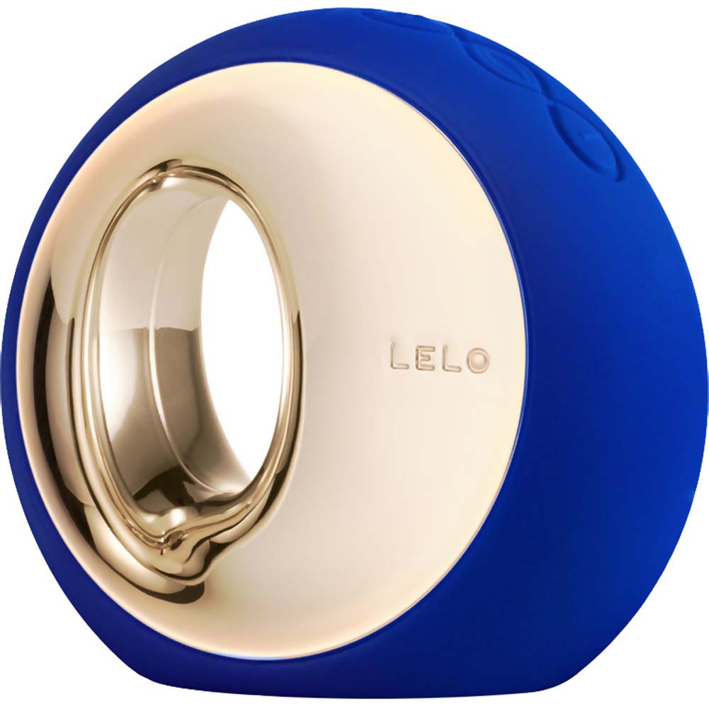 Lelo Ora Vibrating Silicone Massager Midnight Blue - View #2