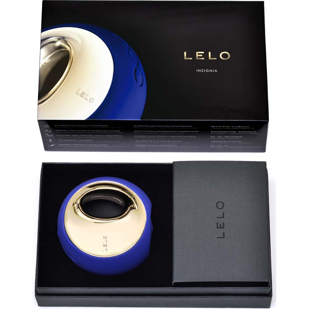 Lelo Ora Vibrating Silicone Massager Midnight Blue - View #4