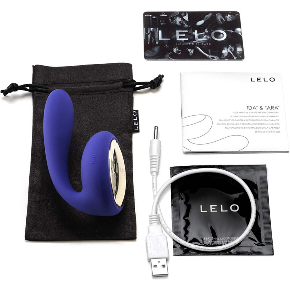 Lelo Tara Rechargeable Silicone Couples Massager Midnight Blue - View #1