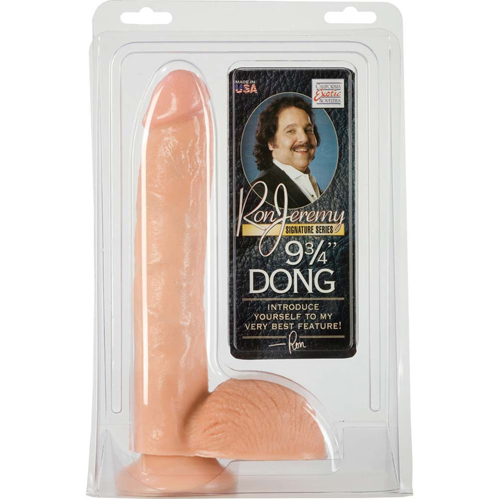 "California Exotics Ron Jeremy Dong With Suction Cup 9.75"" Natural - View #1"