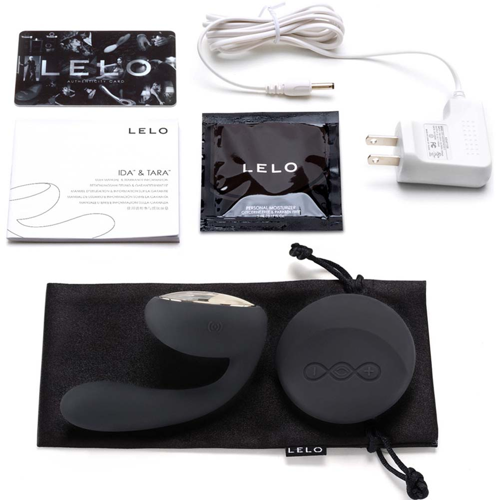 Lelo Ida Remote Control Rechargeable Silicone Couples Massager Black - View #1