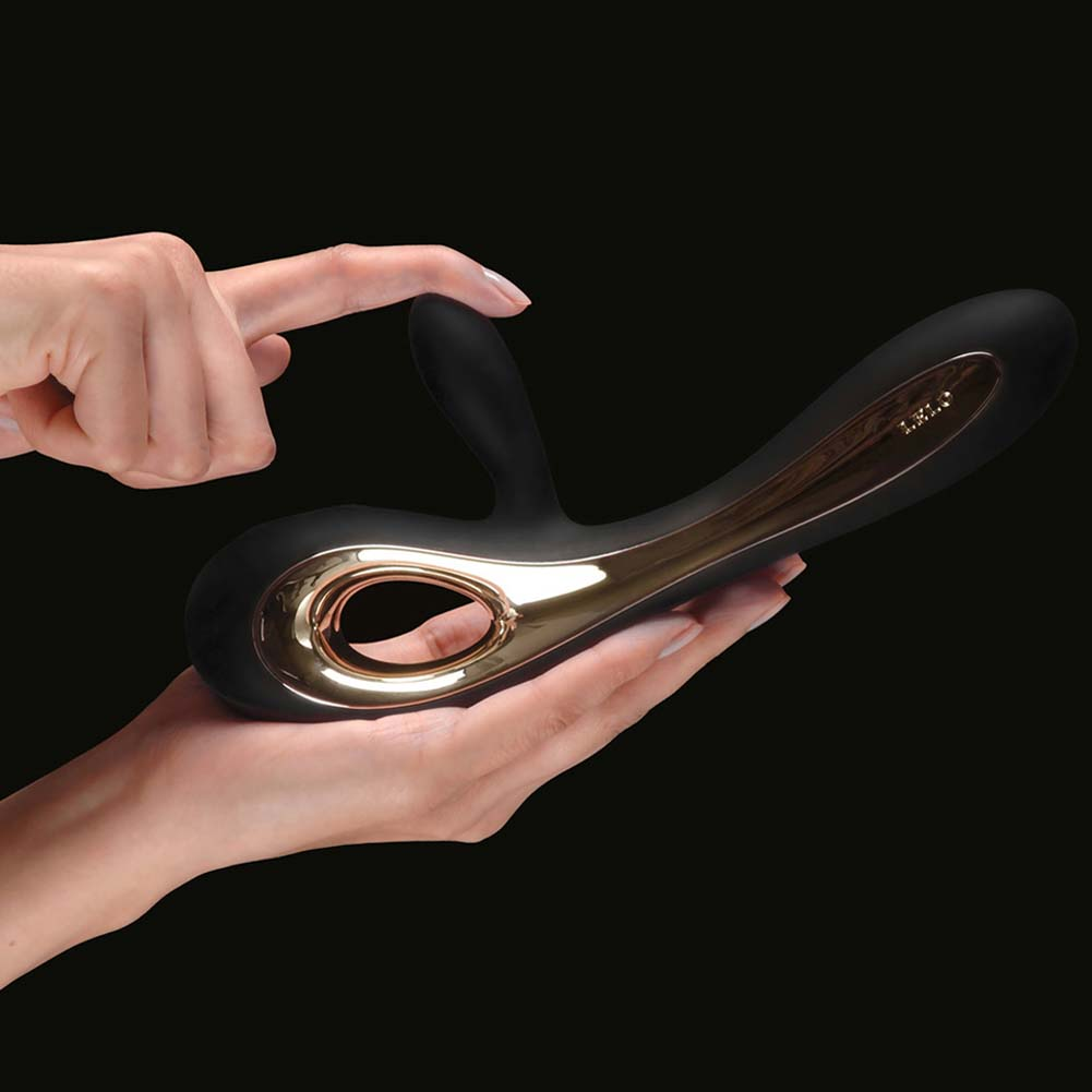 "Lelo Soraya Waterproof Rechargeable G-Spot Silicone Vibe 8.75"" Black - View #1"