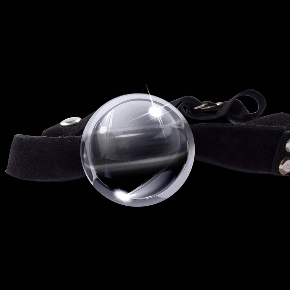 Icicles No. 65 Glass Ball Gag Clear - View #3