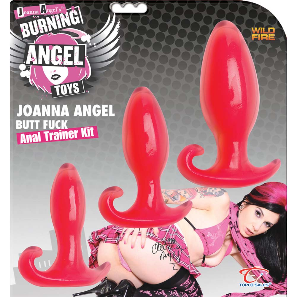 Wildfire Joanna Angel Butt Fuck Anal Trainer Kit With 3 Butt Plugs Pink - View #2