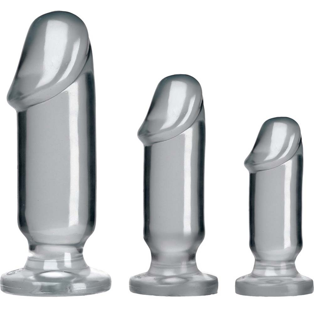 Crystal Jellies Anal Starter Kit With 3 Butt Plugs Clear - View #2