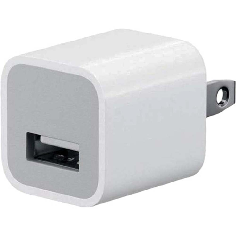 USB AC Power Adapter Wall Charger Plug for iPhone White BULK - View #1