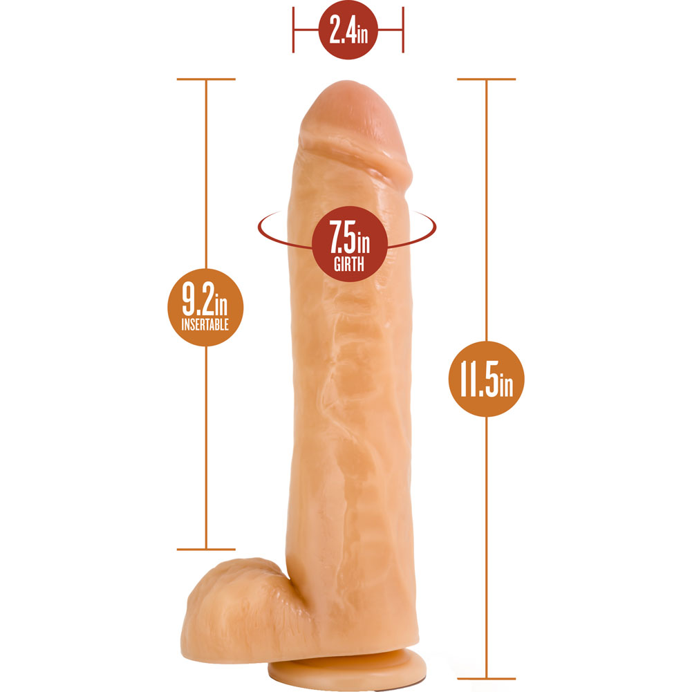 "Blush Hung Rider Hammer Dong With Suction Cup 11.5"" Natural - View #1"
