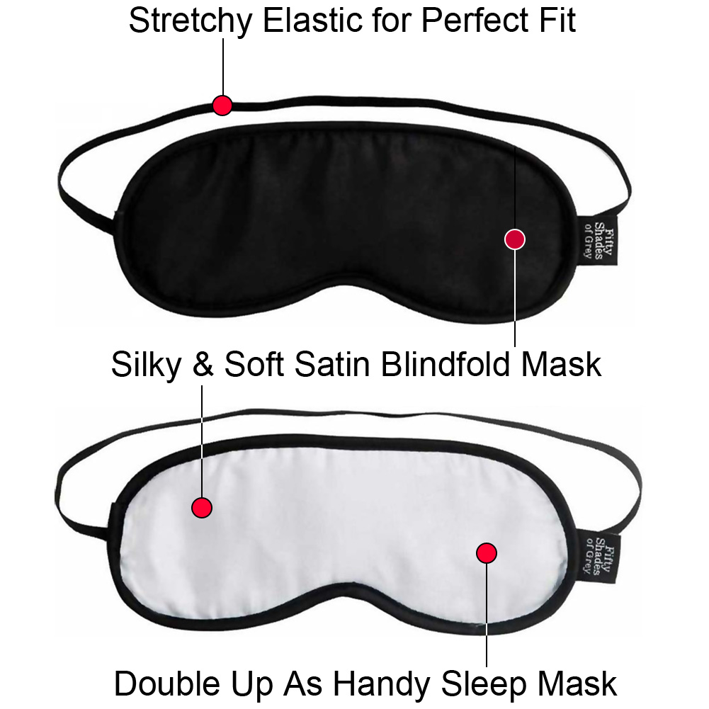 Fifty Shades of Grey No Peeking Blindfold Twin Pack - View #1