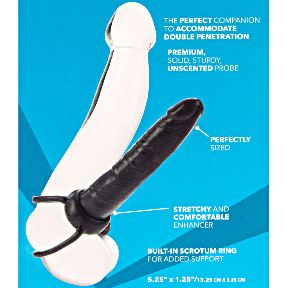 "CalExotics Accommodator Dual Penetrator Toy for Lovers 6"" Black - View #3"