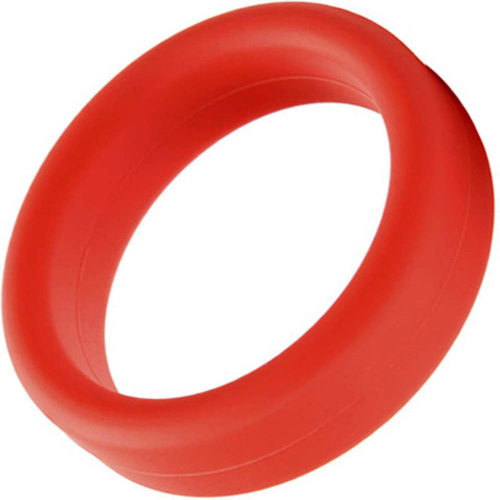 """Tantus Super Soft Silicone C-Ring 1.5"""" Red - View #2"""