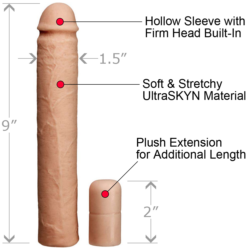 "Xtend It Kit 9"" UR3 Penis Sleeve and 2.5"" Penis Extension Natural - View #1"