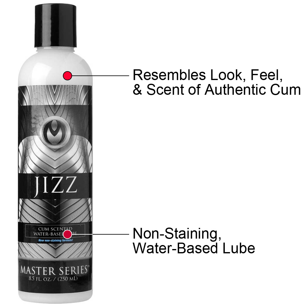 Master Series Jizz Cum Scented Water-Based Lube 8 Fl. Oz. - View #1