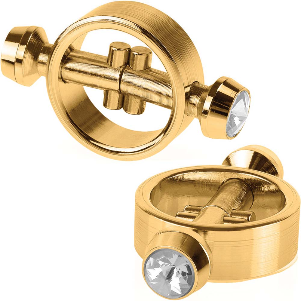 Fetish Fantasy Gold Series Magnetic Nipple Clamps Gold - View #2