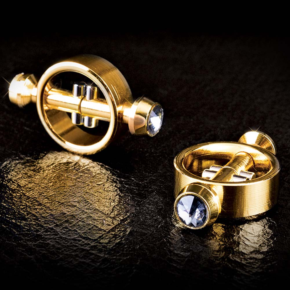 Fetish Fantasy Gold Series Magnetic Nipple Clamps Gold - View #4