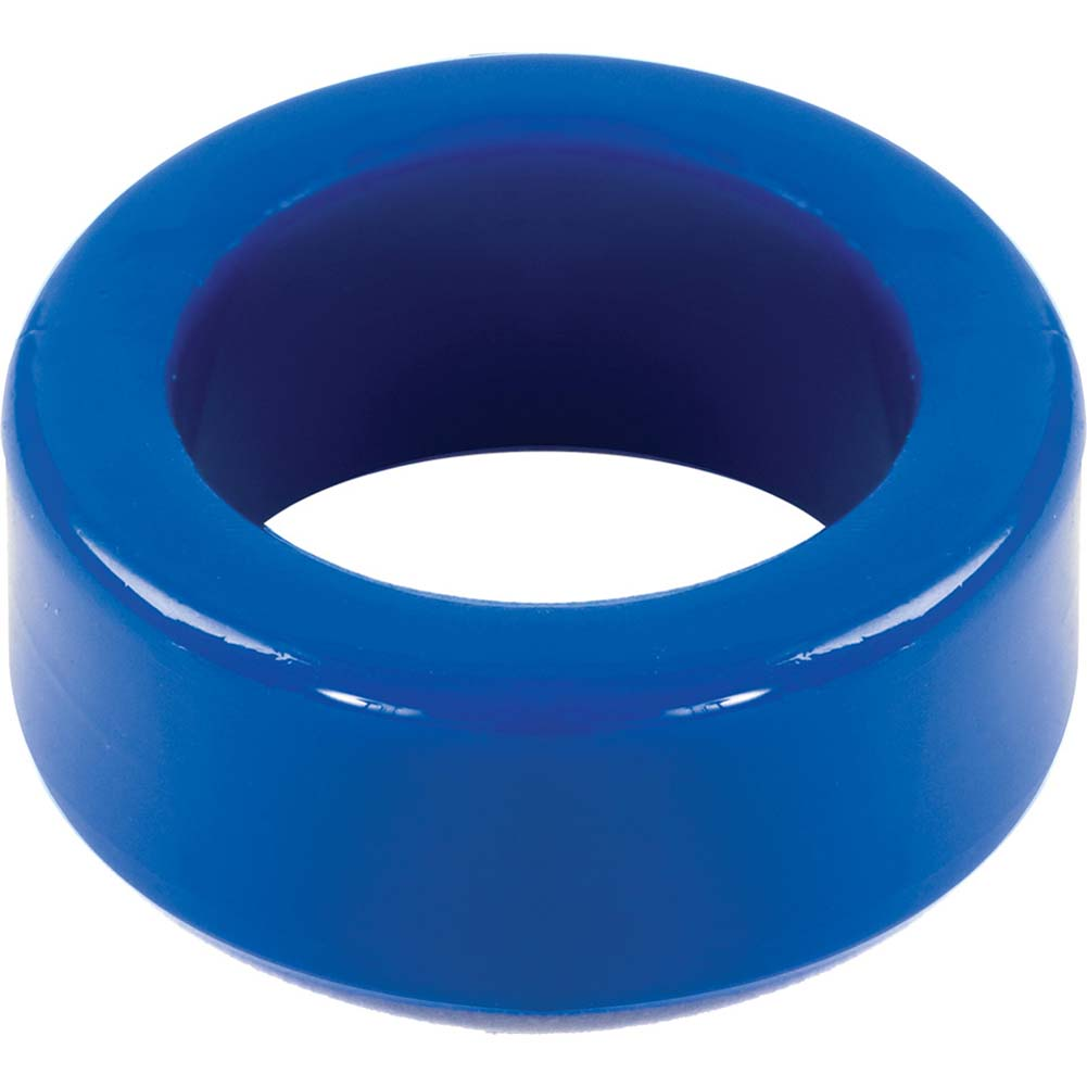 "TitanMen Stretch-To-Fit Cock Ring 1.5"" Blue - View #2"