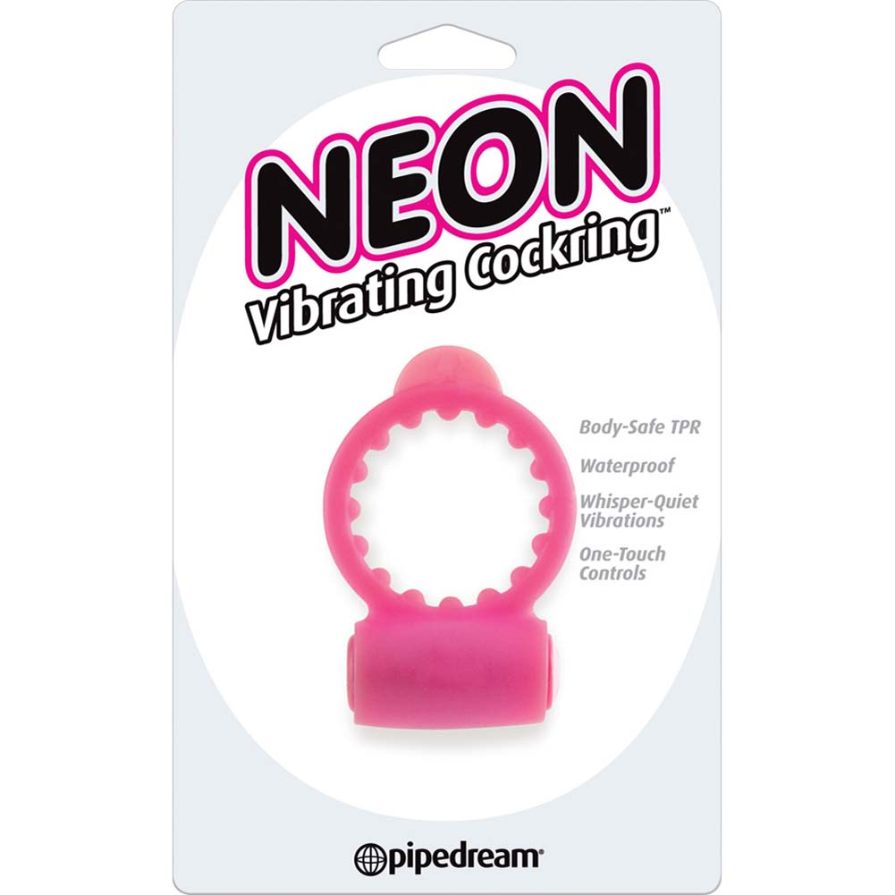 Neon Vibrating Cockring Pink - View #1