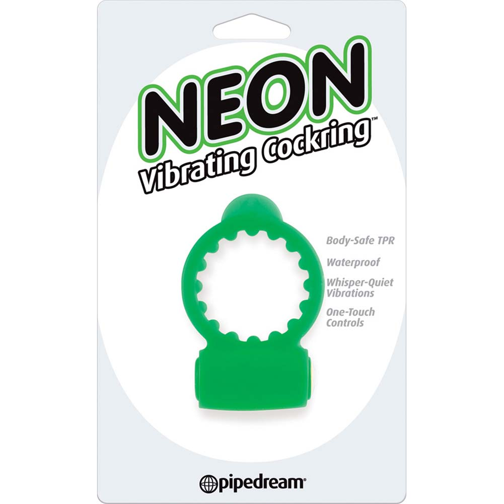 Neon Vibrating Cockring Green - View #1