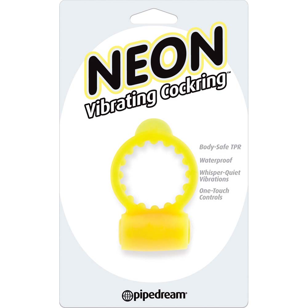 Neon Vibrating Cockring Yellow - View #1