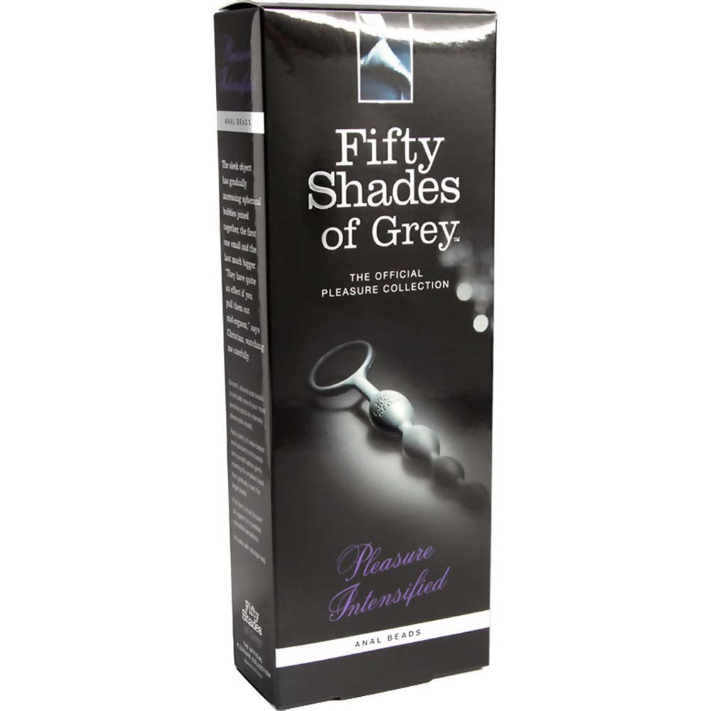 Fifty Shades of Grey Pleasure Intensified Silicone Anal Beads Black - View #4