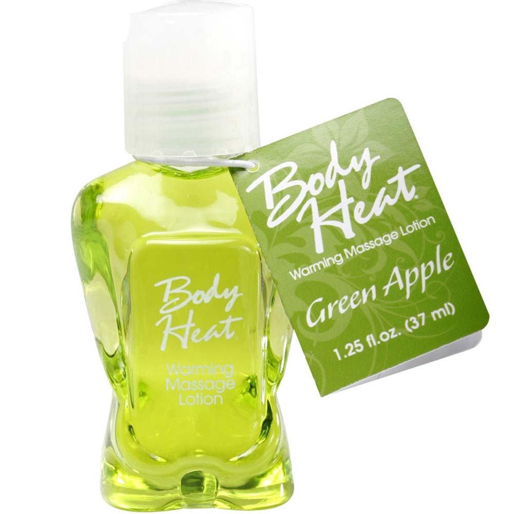Body Heat Warming Massage Lotion 1.25 Fl.Oz 37 mL Green Apple - View #1
