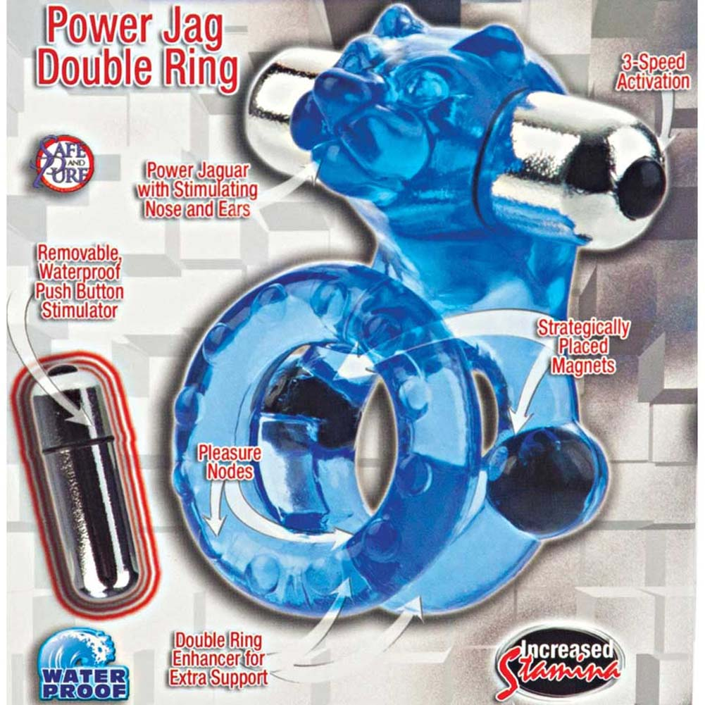 Magnetic Power Ring Power Jag Double Ring Blue - View #1