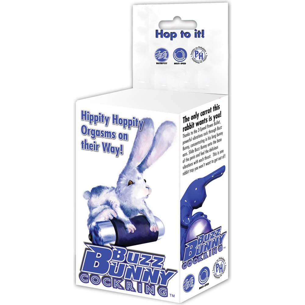 PowerBullet Buzz Bunny Vibrating Multispeed Cock Ring Blue - View #4
