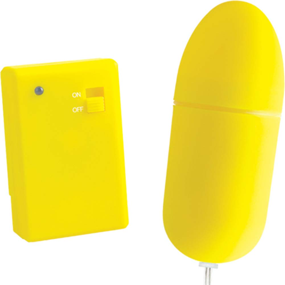 "Neon Luv Touch Remote Control Bullet Vibe 3.25"" Yellow - View #2"