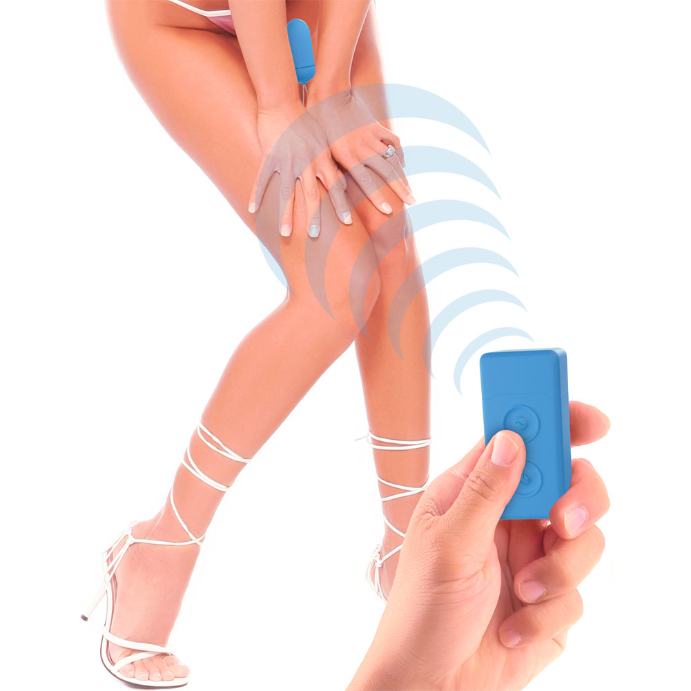 """Neon Luv Touch Remote Control Vibrating Bullet 3.25"""" Blue - View #1"""