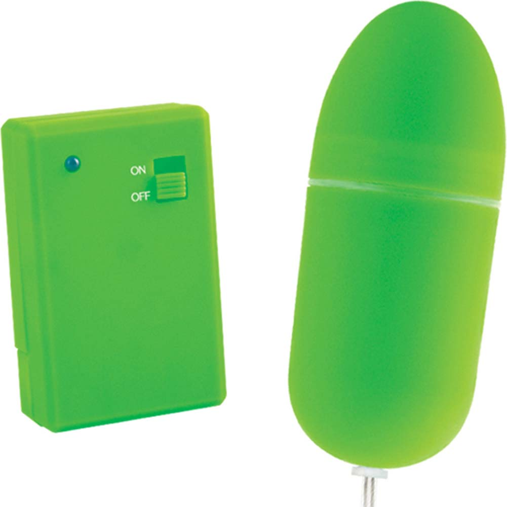 "Neon Luv Touch Remote Control Bullet 3.25"" Green - View #2"