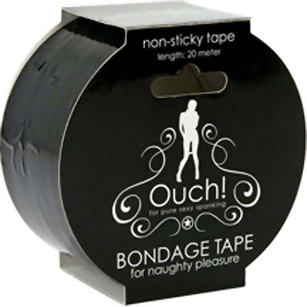 Ouch Non Sticky Bondage Tape 65 Feet Black - View #2
