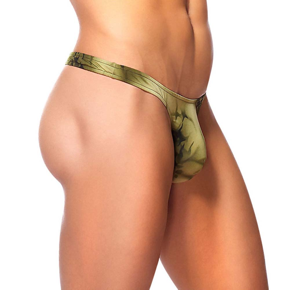 Male Power Skyview Micro Fiber Bong Thong Large/Extra Large Olive - View #1