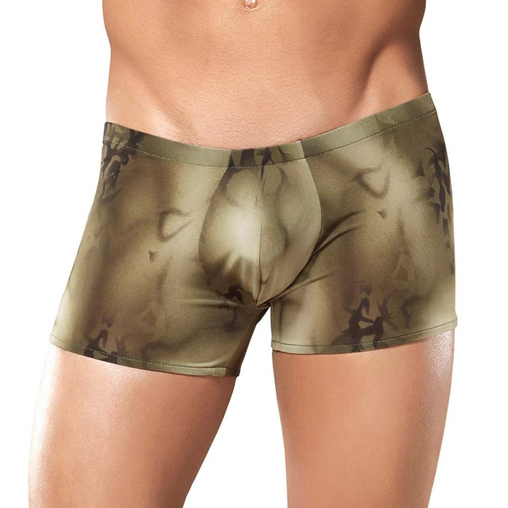Male Power Skyview Pouch Short Large Olive - View #2