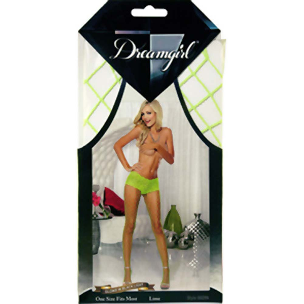 Monaco Fence Net Pantyhose One Size Lime - View #3