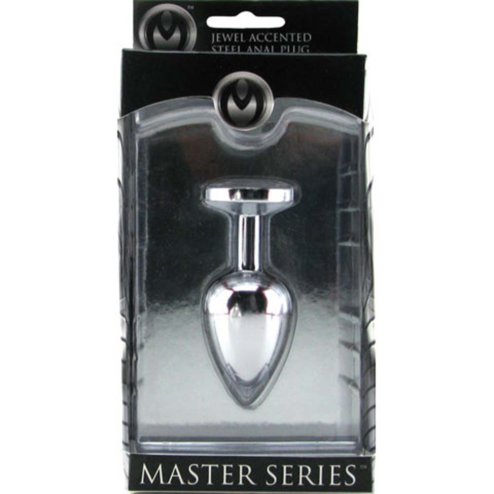 Master Series Lucent Jewel Accented Anal Plug Small Diamond - View #1